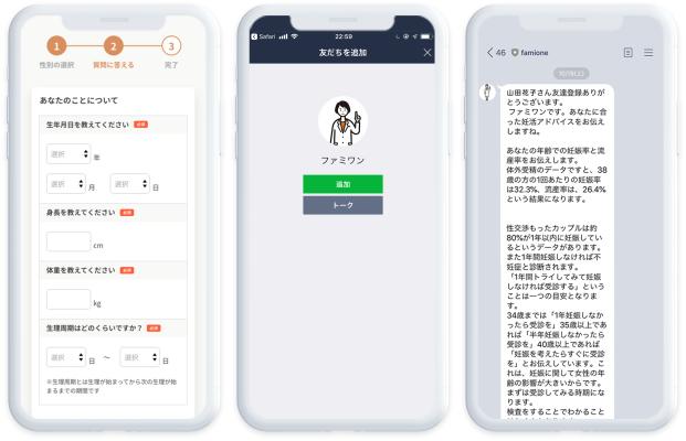 ファミワンLINEサービス(妊活コンシェルジュ)のイメージ